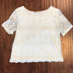 White High Cut Blouse